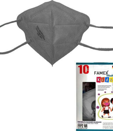 Famex kids mask ffp2 NR Grey 10pcs