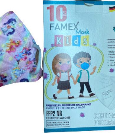 Famex Kids Mask FFP2 NR Unicorn 10pcs