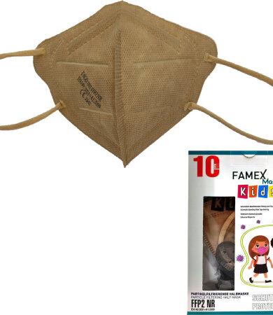 Famex kids mask ffp2 NR Beige 10pc
