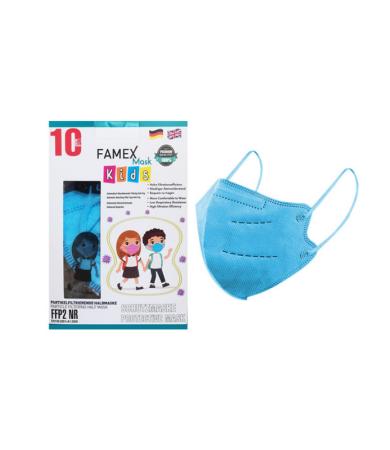 Famex Kids Mask FFP2 NR Sky Blue 10pcs
