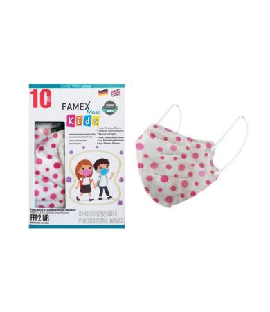 Famex Kids Mask FFP2 NR Polka Dots 10pcs